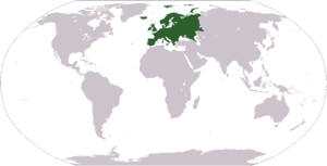 World map depicting Europe Esperanto: Mondmapo...