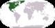 Lokasi Amerika Utara di peta dunia