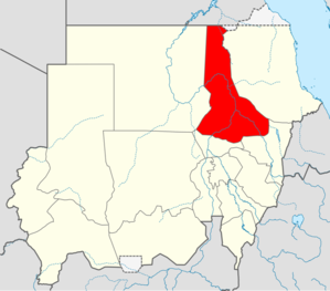 Location in Sudan.