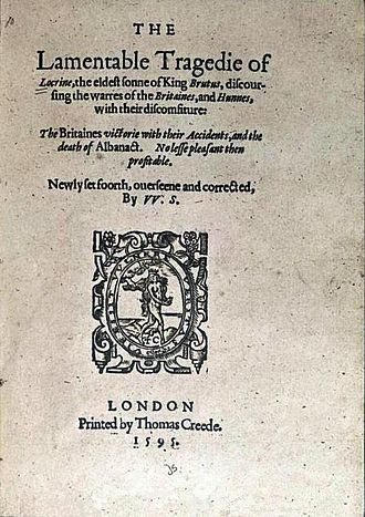 Locrine - Title page of Locrine (1595)