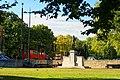 London - Hyde Park Corner - View North towards Machine Gun Corps Memorial - David 1925 Francis Derwent Wood.jpg