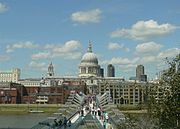 London St Pauls Cathedral with Millennium Bridge