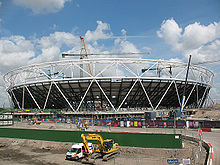 London olympic stadium construction - May 2009.jpg