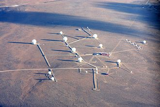 Svalbard Satellite Station - Aerial view of Svalbard Satellite Station in 2011