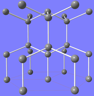 Lonsdaleite - Crystal structure of lonsdaleite