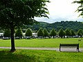 Looking across the park to the shops, Risca (geograph 3543029).jpg