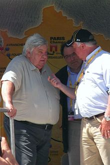 Louis Nicollin podium Tour de France 2013.JPG