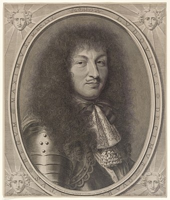 Louis XIV in 1670, engraved portrait by Robert Nanteuil Louis XIV by Robert Nanteuil 1670.jpeg