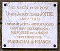 Louveciennes Plaque commémorative Joffre.JPG