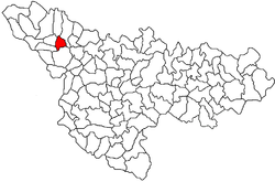 Location of Lovrin in Timiș County
