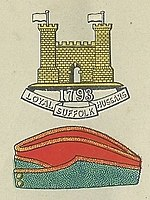 Loyal Suffolk Hussars Badge and Service Cap.jpg