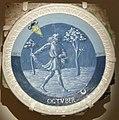 Luca della robbia, mesi per lo studietto di piero de' medici, 1450-56, ottobre.JPG