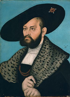 Albert, Duke of Prussia - Albert of Prussia, painting by Lucas Cranach the Elder, dated 1528