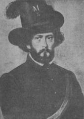Ludwig August Frankl als akademischer Legionär im Jahre 1848 (nach einem Gemälde von Joseph Matthäus Aigner) (Quelle: Wikimedia)
