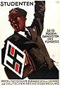 Ludwig HOHLWEIN Studenten seid Propgandisten des Führers Hoch- u. Fachschulen bekennen sich am 29. März zur deutschen Freiheitsbewegung Plakat NSDAP Propaganda Poster Student organisation Nazi Germany 1933 Public domain.jpg