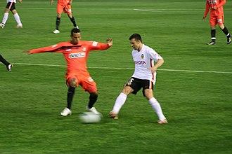 Carlos Marchena - Marchena (right) tackling Sevilla's Luís Fabiano in 2007