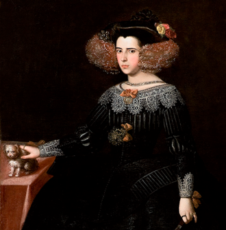 Luisa de Guzmán - Portrait attributed to Alonzo Cano, 1632