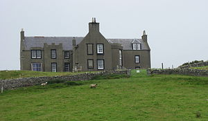 Shetland bus - Lunna House on Shetland where operations were coordinated.