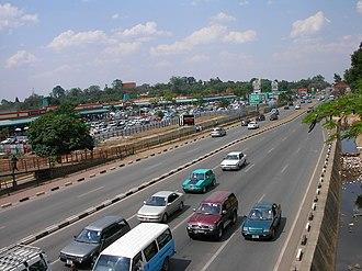 Great East Road - Great East Road in northeast Lusaka