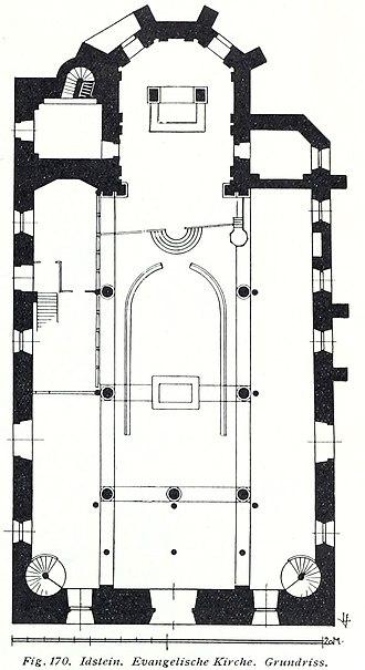 Unionskirche, Idstein - Floorplan, 1914