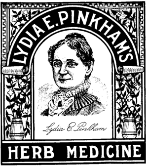 Lily the Pink (song) - Label from a box of Lydia Pinkham's medicine