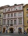 Městský dům U Čtyř kamenných sloupů, U Maňasů, U Juristů (Staré Město), Praha 1, Celetná 25, Staré Město.JPG