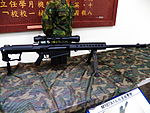 M107A1 Sniper Rifle Display in Armor School Museum 20130302a.jpg