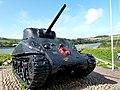 M4 Sherman Tank memorial at Torcross Devon - panoramio (1).jpg