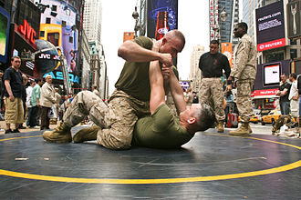 Fleet Week - Marines demonstrate Marine Corps Martial Arts Program techniques at Times Square in 2010.