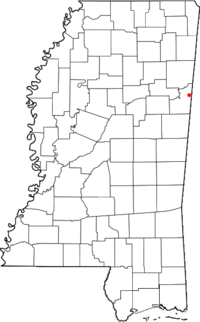 Location of Steens, Mississippi