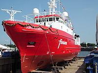 Off-Shore-Vermessungsschiff SV FUGRO Helmert bei der Schiffstaufe in Berne (2013)