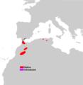 Macaca sylvanus range map.png