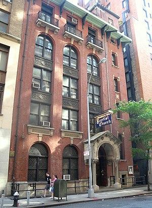 Madison Avenue Baptist Church - The parish house on 31st Street