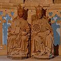 Magdeburg, domtsjerke, bylden keizer Otto en keninginne Edith.jpg