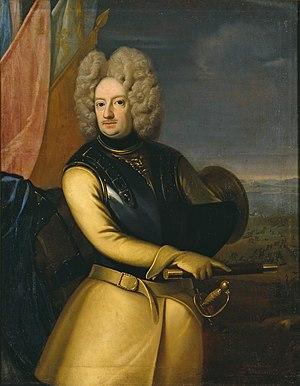 Magnus Stenbock - Stylised painting of Magnus Stenbock in wig