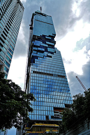Bang Rak District - MahaNakhon tower under construction