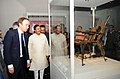 Mahesh Sharma and the Secretary of State for Digital, Culture, Media & Sport, UK, Mr. Matt Hancock visiting the exhibition 'India & The World – A History in Nine Stories', in New Delhi.JPG