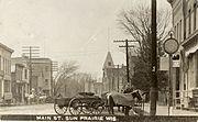 Main.St Sun Prairie ca.1900