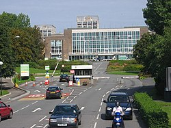 Main entrance to University of Wales Swansea seen from Mumbles Road - geograph.org.uk - 275168.jpg