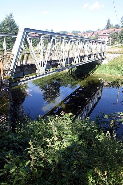 Pont sur le Doubs à Maisons-du-Bois (Doubs).