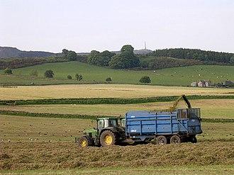 Auchterhouse - Image: Making silage near Kirkton of Auchterhouse