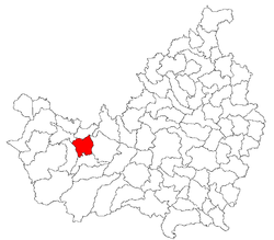 Location of Mănăstireni