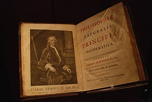 Philosophiæ Naturalis Principia Mathematica - Titlepage and frontispiece of the third edition, London, 1726 (John Rylands Library)