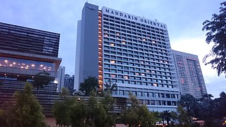 Mandarin Oriental, Singapore - front and back views of Mandarin Oriental, Singapore