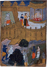 Mandodari approaches her husband, the demon king Ravana.jpg