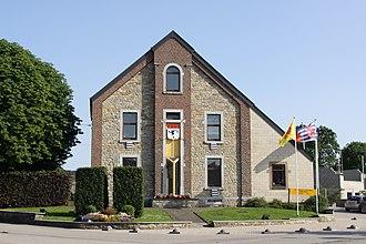 Manhay - Image: Manhay maison communale
