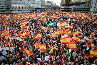 People's Party (Spain) - PP demonstration in 2007 in opposition to releasing an ETA member from prison.