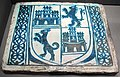 Manises, placca di rivestimento con armoriale, 1400-1450 ca..JPG