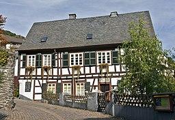 Manubach, Ehemaliges evangelisches Pfarrhaus; spätbarockes Fachwerkhaus, heute genutzt als W. O. von Horn-Museum