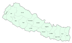 Location of Kingdom of Nepal